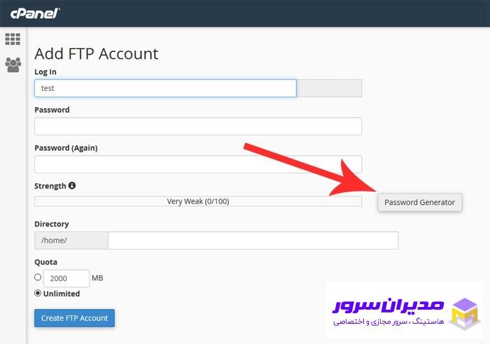 ftp accounts