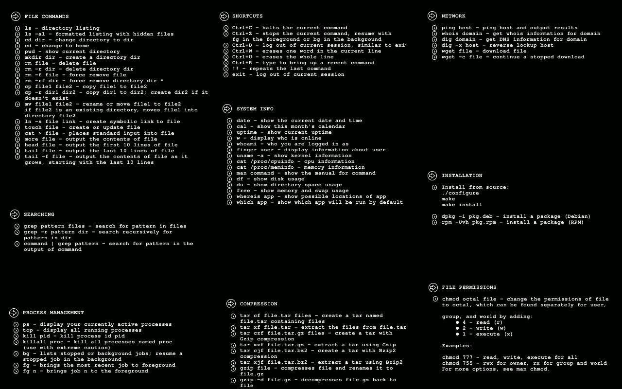 دستورات لینوکس کالی